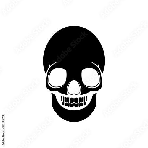 skull and crossbones Tablou Canvas