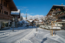 Gstaad Village In Winter