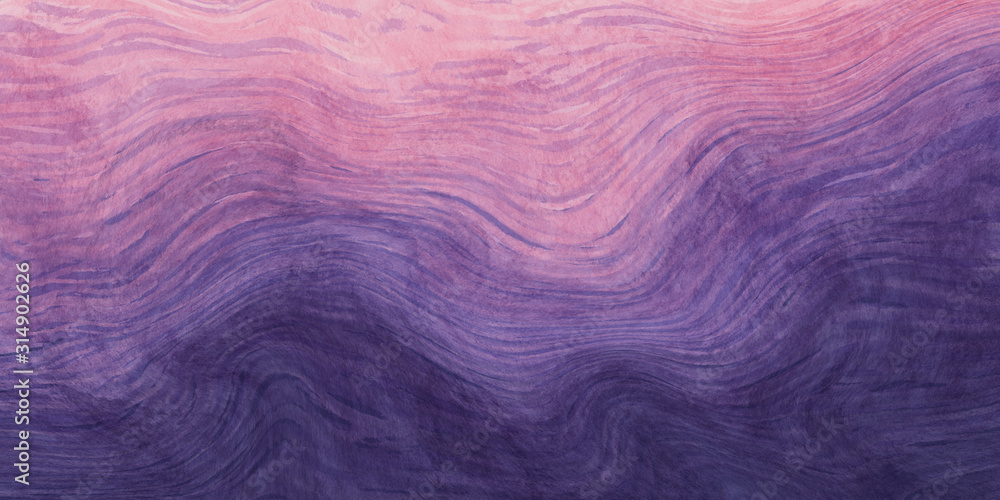 Abstract paint purple and pink with wavy brush stroke lines texture for backgrounds.