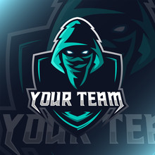 Vector Assassin Logo Mascot Fo...