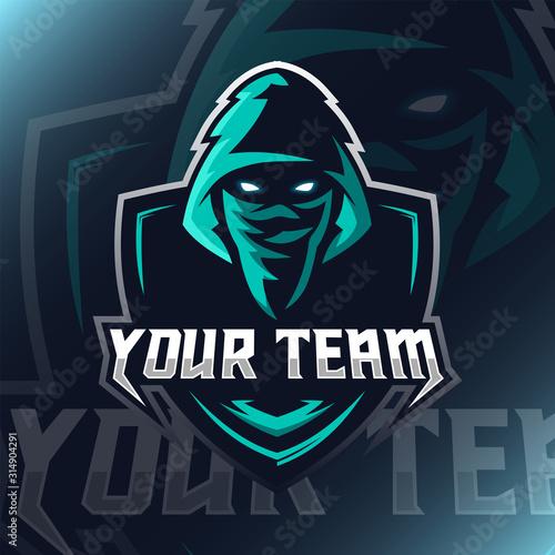 Vector Assassin logo mascot for teammate Canvas Print
