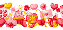 Happy Valentine Day Seamless Pattern.