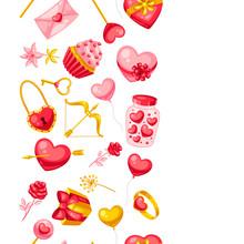 Happy Valentine Day Seamless P...