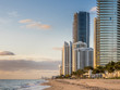 Panorama of Sunny Isles Beach city in Greater Miami area, Florida, USA.