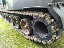 Close-up On Tank Caterpillar.