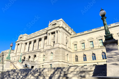 The United States Library of Congress Building in Washington, DC.