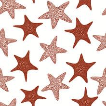 Seastars Seamless Pattern. Han...