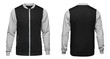 canvas print picture - Grey bomber jacket template used for your design isolated on white background
