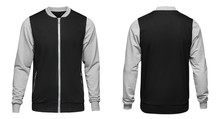 Grey Bomber Jacket Template Us...