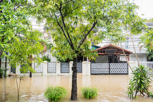 Photo House in some residence at Jakarta city flooded