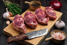 Chopped Fresh Lamb Shank Steak...