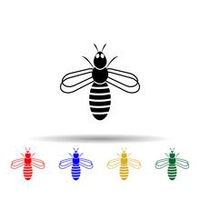 Bee Multi Color Style Icon. Si...
