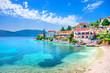 canvas print picture - Fiskardo village, Kefalonia island, Greece