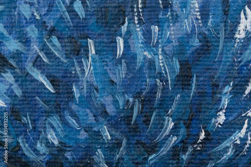 Photo Textura de pintura en óleo azul sobre un lienzo