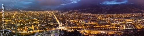 Fotografie, Tablou Grenoble de nuit