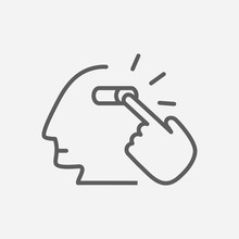 Mind Trigger Icon Line Symbol. Isolated Vector Illustration Of Icon Sign Concept For Your Web Site Mobile App Logo UI Design.