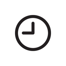 Clock Icon Design Eps 10