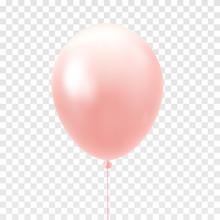 Light Pink Balloon Isolated On...