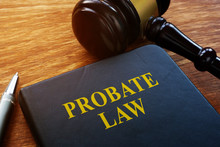 Probate Law Book And Wooden Ga...