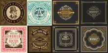 Mega Set Of 8 Vintage Labels. ...