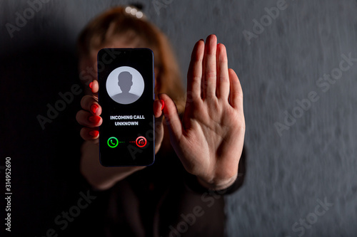 Fototapeta Phone call from unknown number