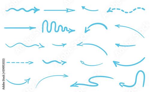 Fotografia  Abstract arrow on white
