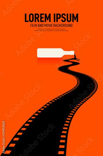 Film i film plakat projekt szablon tło w stylu retro vintage