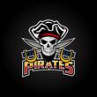 Pirates Mascot Sport Esport Logo Design Stock Vector