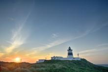 Fuguei Cape Lighthouse At Sunset At The Coast Of Shimen, Taiwan