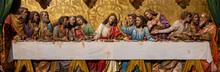 Bratislava, Slovakia. 2019/11/4. A Sculpture Of The Last Supper According To The Painting By Leonardo Da Vinci. St Martin's Cathedral, Bratislava