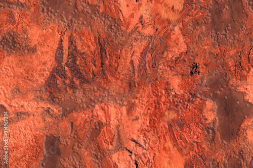 Obraz na plátně  Bright relief seamless texture in red and pink tones with veins and scratches, s