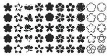 桜 イラスト 白黒