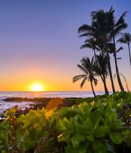 Sunset Over The Coast Of Kauai...