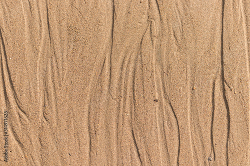 View from above on land surface, mud dirt and sand texture Wallpaper Mural