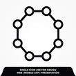 Molecule line icon, vector best flat icon on texture background , EPS 10