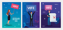 Set Poster Of Vote With Busine...