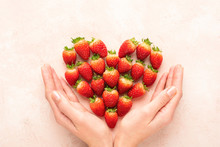 Strawberries, Heart And Woman'...