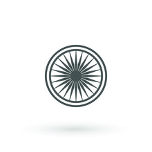 Ashoka Wheel Indian Symbol Ico...
