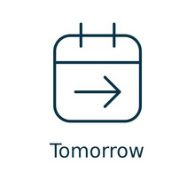 Tomorrow Vector Icon In Here