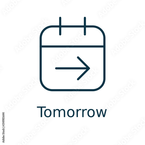 Tomorrow vector icon in here Wallpaper Mural