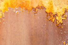 Rusty Aged Corroded Metal Back...