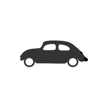 Old Car Beatle Icon Vector