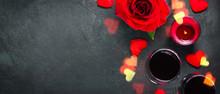 Valentines Day Concept. Wine G...