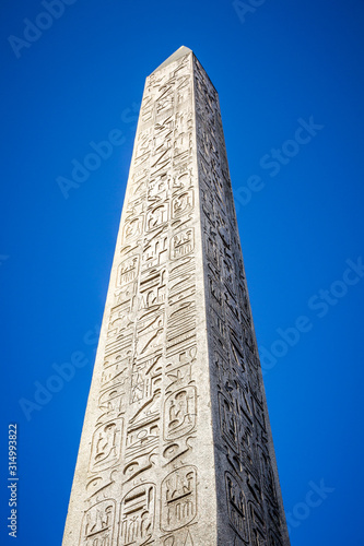 Fotografia, Obraz Obelisk of Luxor in Concorde square, Paris