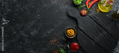 Photographie Dark cooking banner