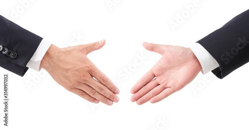 ビジネスイメージ・握手する男性 Canvas Print