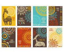 Set Of Ethnic Banners
