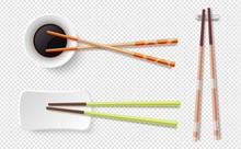 Chopsticks. Colorful Wooden Su...
