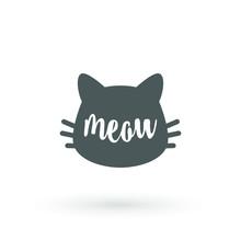 Cat Graphic. Meow Handwriting ...