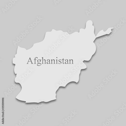 map of Afghanistan Canvas Print